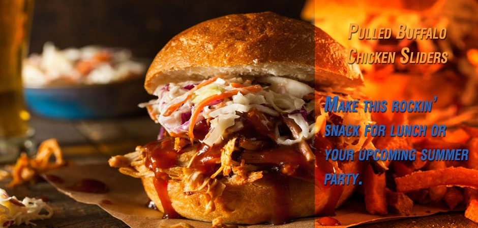 Pulled Buffalo Chicken Sliders