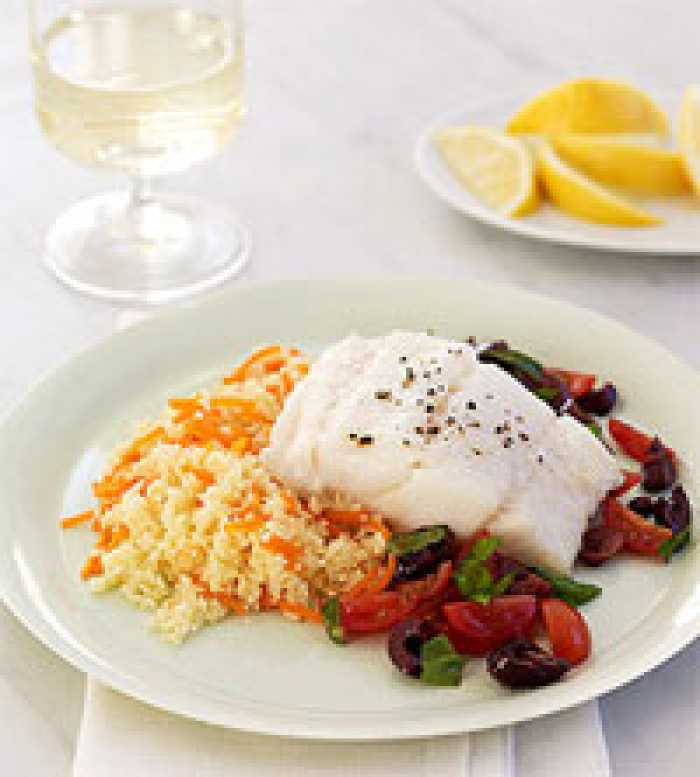 Oven Roasted Cod with Tomato Relish